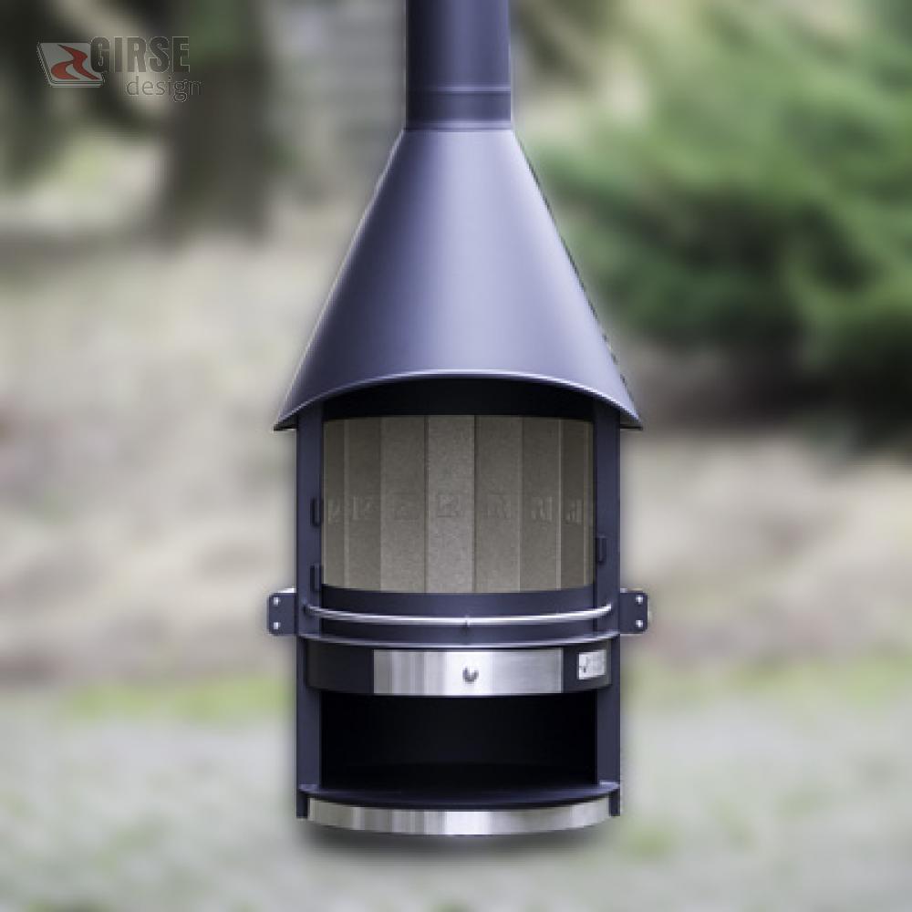 grillkamin edelstahl trendy garten ideen grillkamine. Black Bedroom Furniture Sets. Home Design Ideas