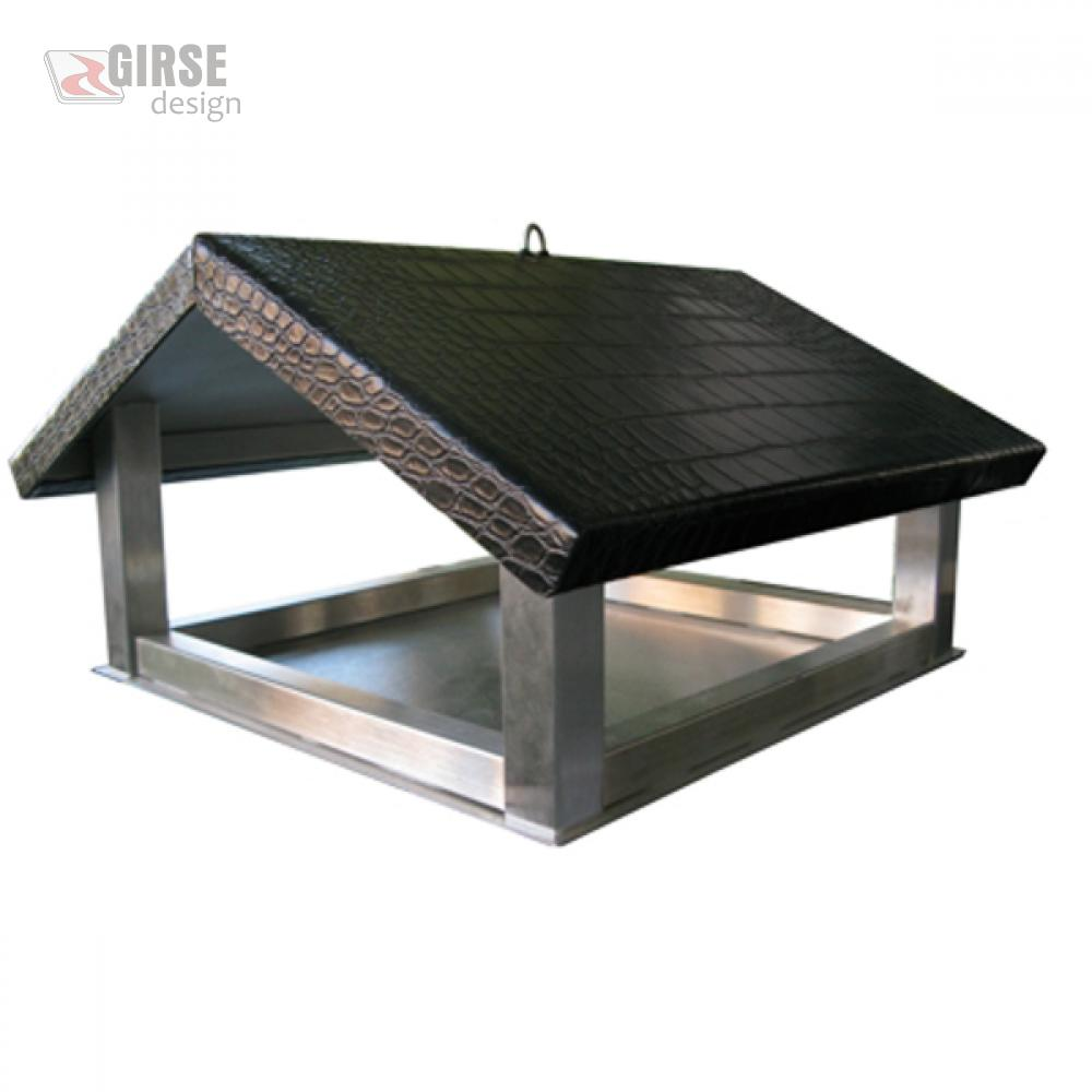 girse design edelstahl vogelhaus vogelh uschen tirili. Black Bedroom Furniture Sets. Home Design Ideas
