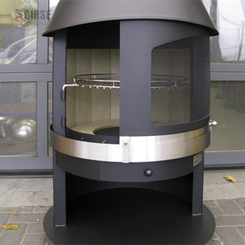edelstahl gartenkamin grillkamin aussenkamin girse design tirol. Black Bedroom Furniture Sets. Home Design Ideas