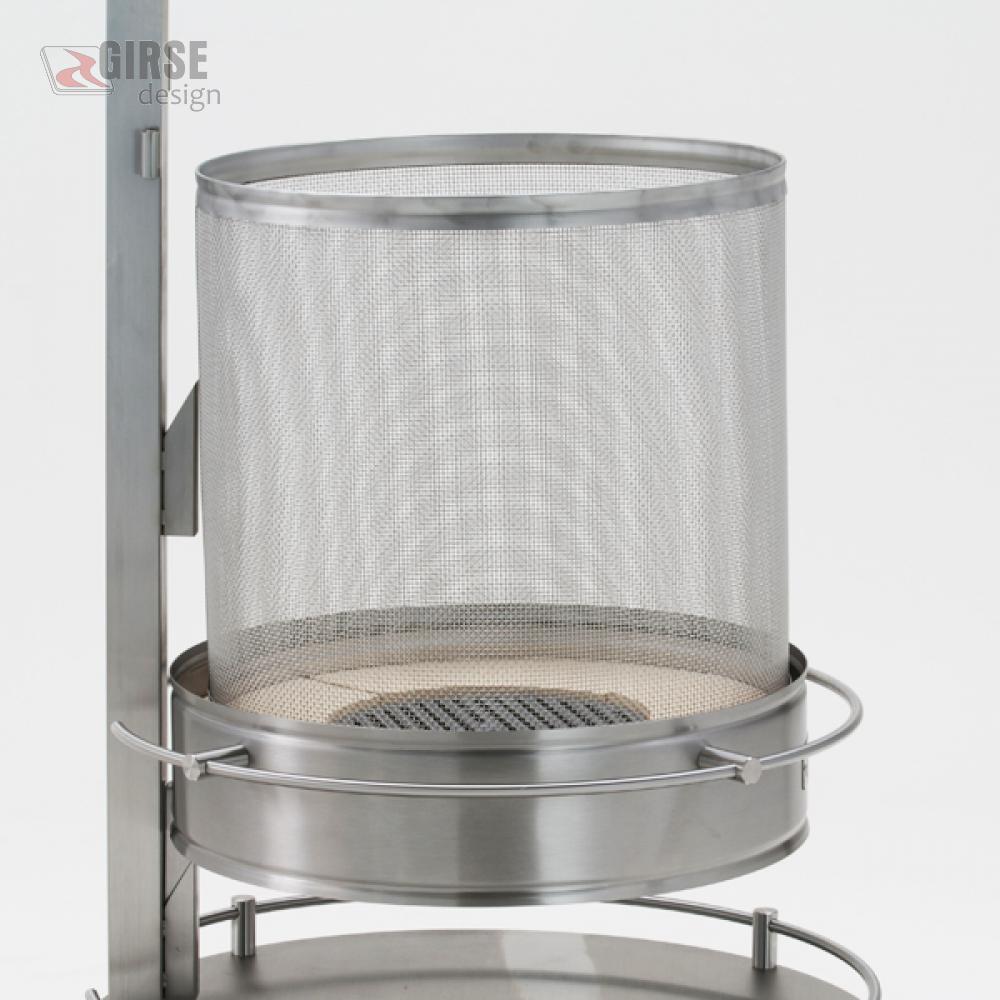 edelstahl funkenschutzkorb f r feuerstelle columbus girse design. Black Bedroom Furniture Sets. Home Design Ideas