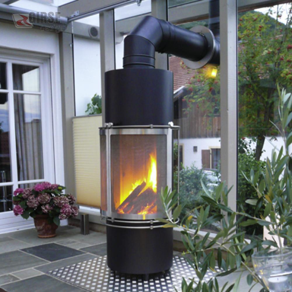 gartenkamin grillkamin aussenkamin edelstahl girse. Black Bedroom Furniture Sets. Home Design Ideas