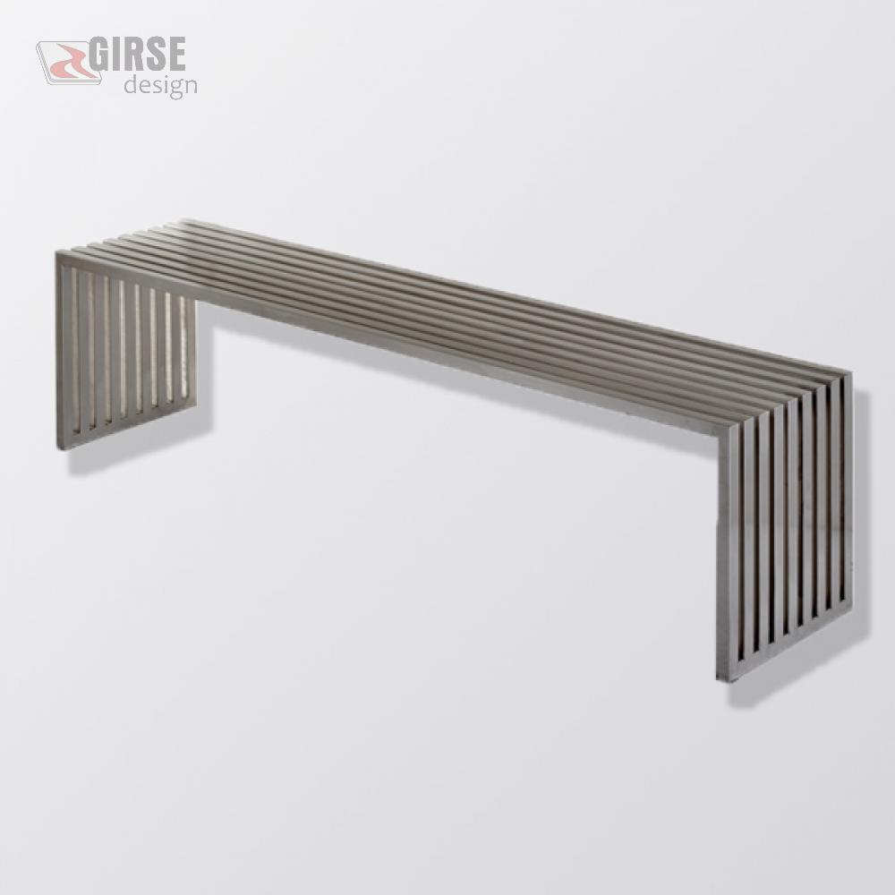 Girse Design Edelstahl Sitzbank Gross Mit Optionaler Rückenlehne