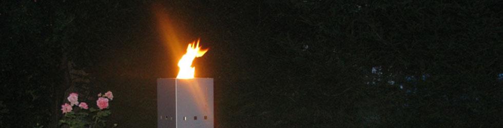 Fuego - Design Event- und Partybeleuchtung mit Gasflamme
