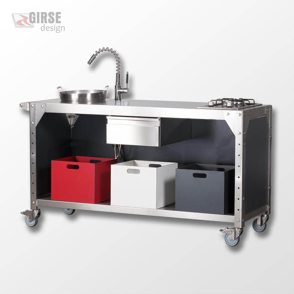 Edelstahl Outdoorküche Nizza - Girse-Design - Gartenküche ...