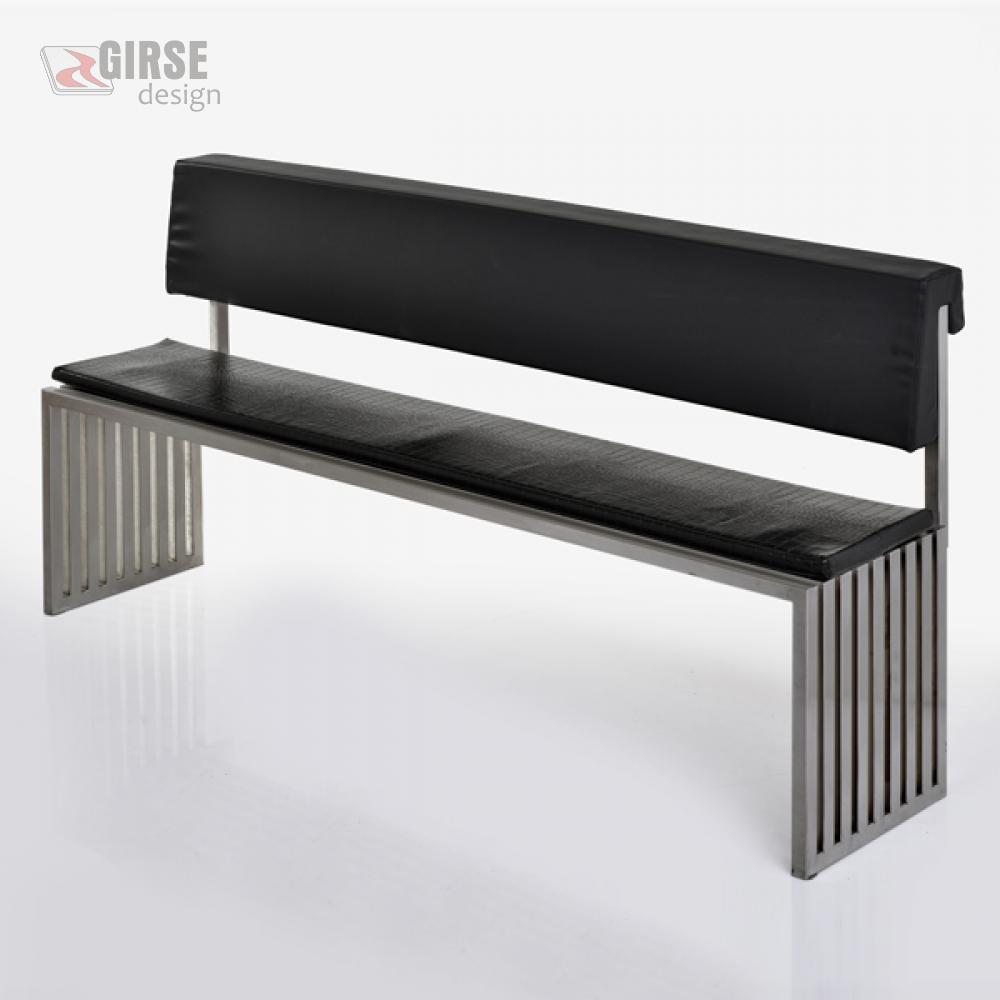 Girse-Design Edelstahl-Sitzbank, gross mit optionaler ...