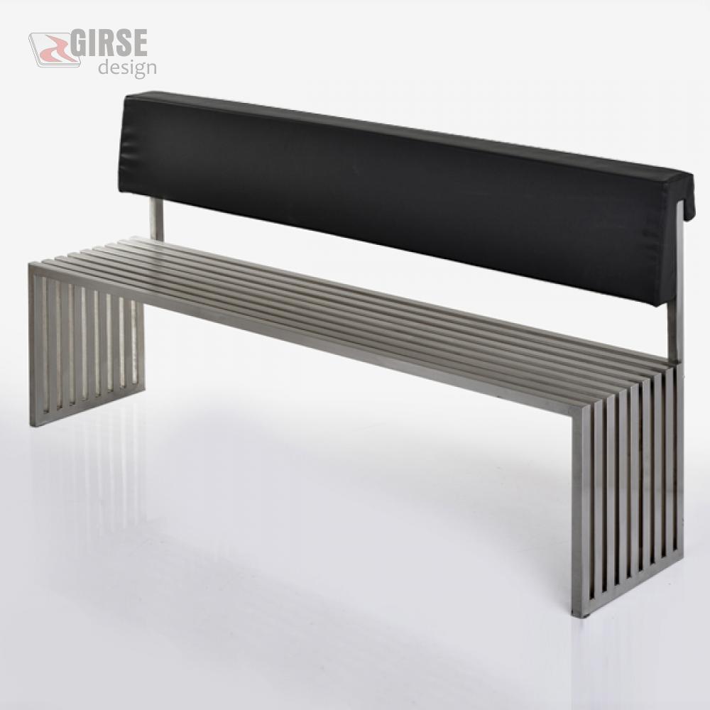 Girse-Design Polsterung für Edelstahl-Sitzbank, gross