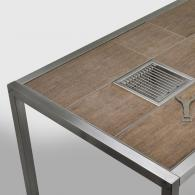 Magic Table mit Fliesen mit Holz-Dekor